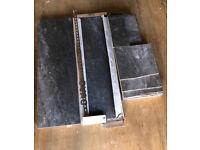 Victorian Plumbing - Novus Grey Stone Effect Wall Tiles - 300 x 900mm (£164.75)