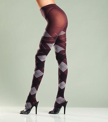 sexy BE WICKED school GIRL preppy ARGYLE print TIGHTS pantyhose NYLONS stockings](Schoolgirl Black Tights)