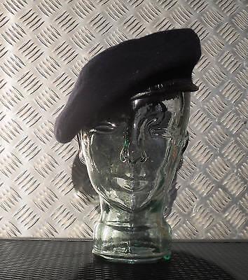 Navy Blue Military Style Wool Beret /Berret Size 7¼ / Medium - NEW