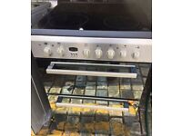 INDESIT BLACK/STAINLESS STEEL 60cm ELECTRIC COOKER, NEW MODEL ,IMMACULATE COND, 4 MONTHS WARRANTY
