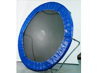 8ft Trampoline by Mad Dash Toys - good condition, never used outdoors, no side panels