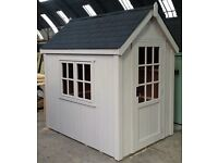 POSH SHED Luxury Garden Shed Ply-Lined Shingle Tiled Roof 7X5