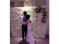 Flower Wall Backdrop Hire for Weddings and Events