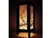 Thai Vintage Oriental CHERRYBLOSSOM TREE Bedside Table Lights/ Floor Wood Saa Paper Lamp Home Decor