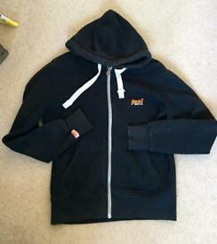 Black Superdry hoodie. Well loved.