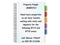 Landlords Urgently Needed - We have Tenants Waiting- call Sharon 95213184