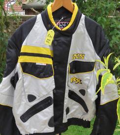 iXS Motorcycle Jacket. Yellow/black/silver Size 2XL As new.