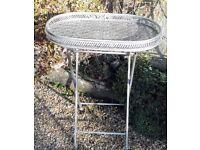 Pierced matal garden/side table