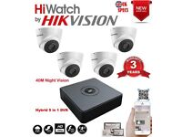 HiWatch HikVision 4 Channel DVR with 4 2.0MP 1080P Camera System with 1TB HDD