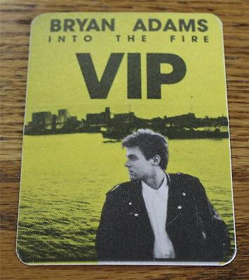 Vintage & Genuine Bryan Adams Into the Fire Tour 1987 OTTO Backstage Pass YELLOW