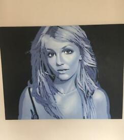 Britney Spears canvas painting