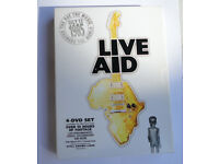Live Aid 1985 - (DVD, 2004, 4-Disc Set, Box Set) w/ BOOKLET BOWIE QUEEN TOM PETTY GEORGE MICHAEL U2