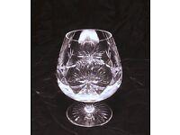 STAR OF EDINBURGH CRYSTAL BRANDY GLASSES