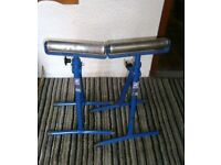 Pair Record Power roller stands adjustable height