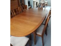 Nathan (Parker Knoll) dining table and chairs.