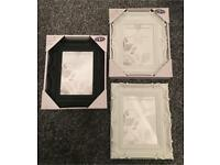 White and Black Baroque Style Photo Frames