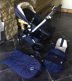 Bugaboo Cameleon Classic Limited Edition in Navy with Footmuff etc.