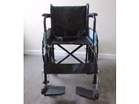Self propelled foldable mobility wheelchair, hardly used, fantastic condition FREE DELIVERY IN LE