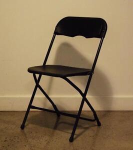 LIQUIDATION - Chaise pliante robuste Noire NEUVE / Chariot Transport chaise pliante
