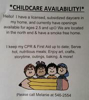 Childcare Availability!:)