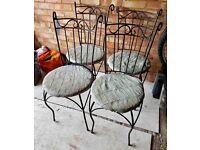 x4 Metal Garden Chairs