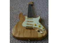 Super light custom build Paulownia Stratocaster + Fender Squier neck