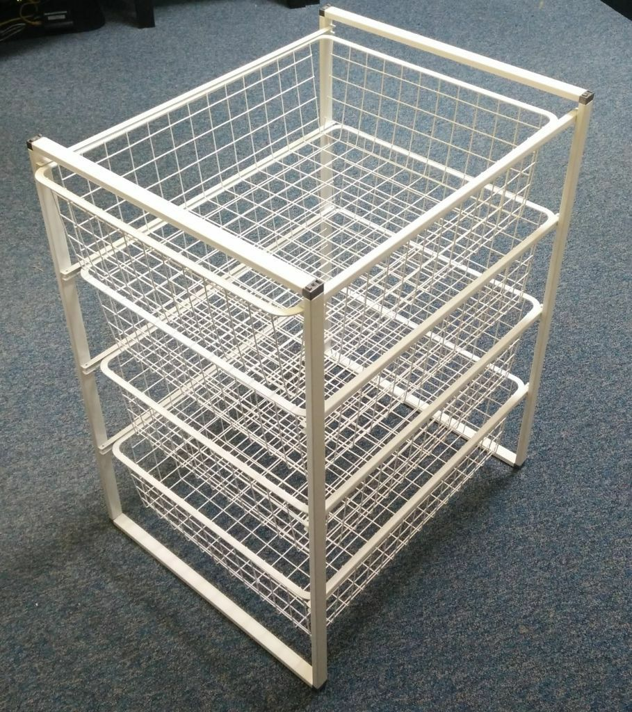 ikea antonius wire racking storage unit baskets draws