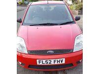 2002 Ford Fiesta Zetec 1.4 5dr Red 95K mileage