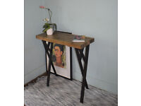 75cm Industrial Console Table Mid Century Modern Style Table