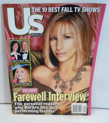 Us Weekly Magazine October 9 2000 Barbra Streisand Farewell Interview Cover