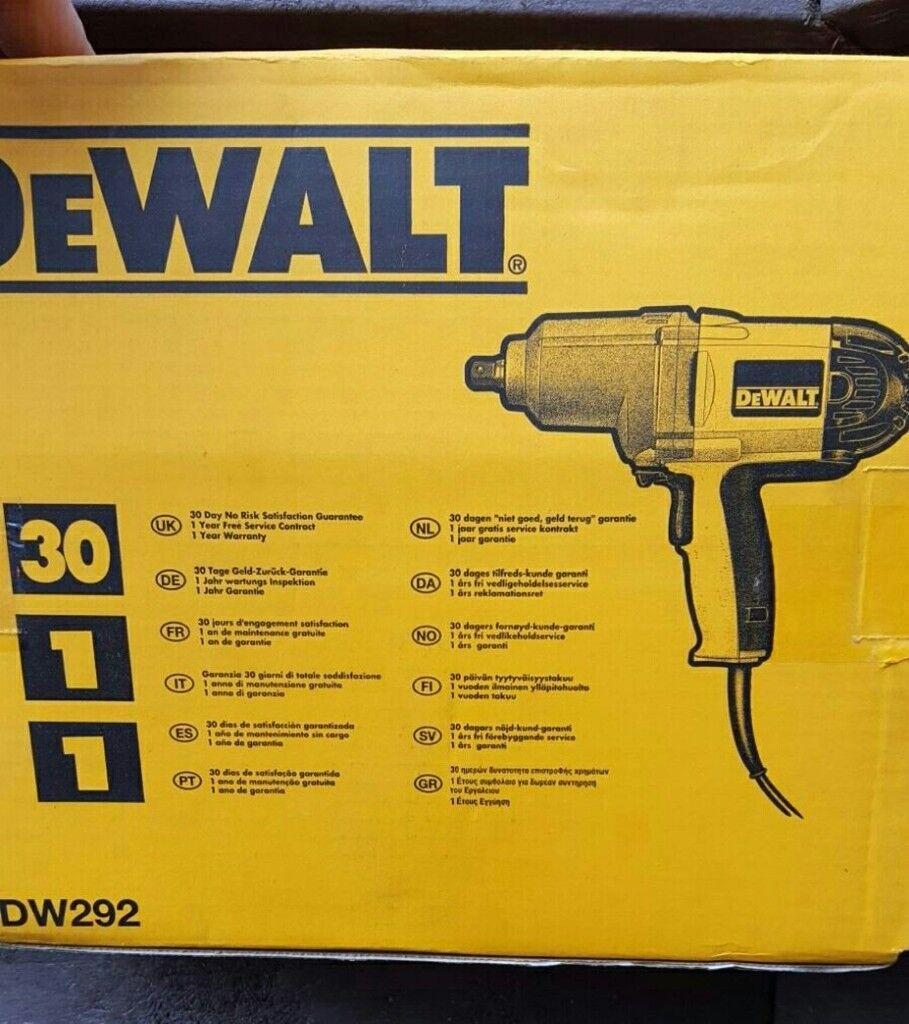 BNIB DeWALT DW292 240v Impact Wrench Drill with