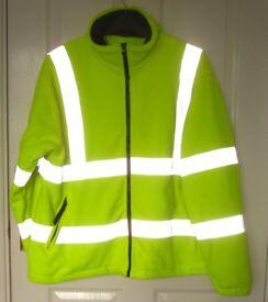 NEW!!! Winter Hi-Vis Fleece Jacket XXL 2XL very warm