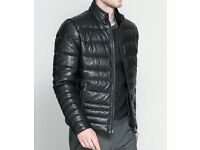 ** STUNNING MENS ZARA FAUX LEATHER JACKET **