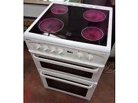 Beko DVC62 Ceramic Electric Cooker, 60 cm wide