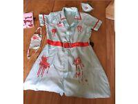 Halloween nurse costume, small.