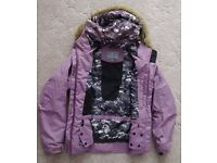 Purple skiing coat