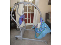 Arjo Maxi twin Patient Lift Mobility Battery Hoist, Charger,Clip Electric Sling