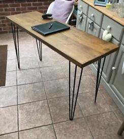 Industrial handcafted table/desk