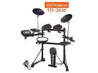 ROLAND TD-3KW electronic V Drums kit mesh snare NICE set midi compatible for VSTs