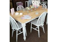 Farmhouse style table & 4 chairs
