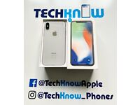 Apple iPhone X 64GB unlocked to all networks (Silver) Boxed