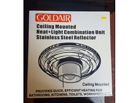 Ceiling Mounted Heat + Light Bathroom Heater 750 watt £20