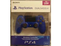 Blue Sony Dualshock 4 controller (brand new, sealed) for PlayStation 4 (PS4)