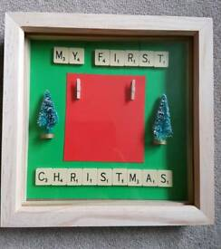 My first Christmas frame