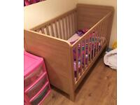 Mamas and papas cot bed transforms into toddler bed