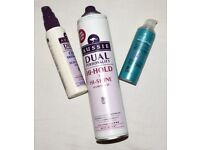 FREE hair products; Aussie hair spray, curl definer, and Style Expertise serum