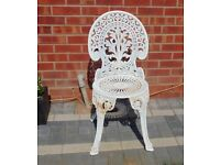 (#895) aluminium / iron garden bistro chair (Pick up only, Dy4 area)