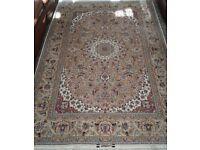 Silk handmade Persian rug