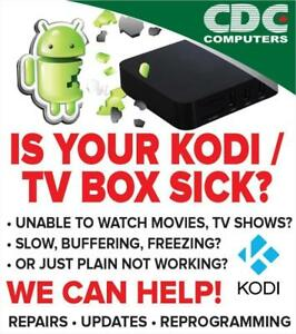 Android KODI TV Box Repair Update Upgrade Reprogramming