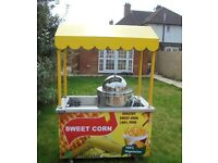 SWEET CORN TROLLEY CART CATERING STAND WITH SWEETCORN STEAMER MACHINE KIOSK